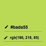 The #BADA55 color