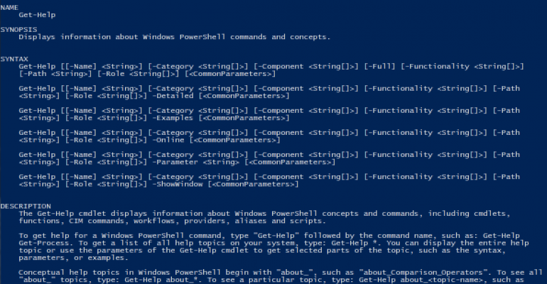 The PowerShell terminal